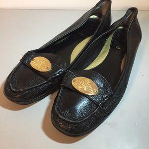 Ralp Lauren Leather Signature Flat Shoes 8